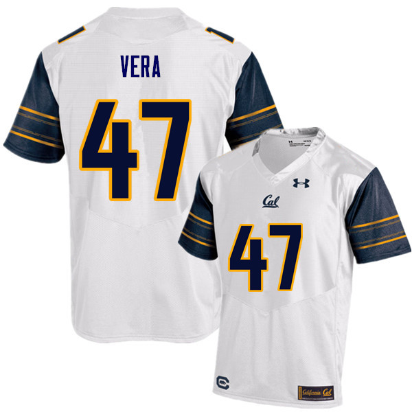 Men #47 Alonso Vera Cal Bears (California Golden Bears College) Football Jerseys Sale-White
