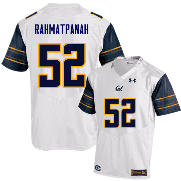 Men #52 Arwin Rahmatpanah Cal Bears (California Golden Bears College) Football Jerseys Sale-White