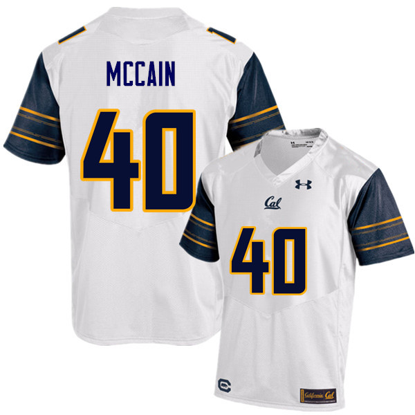 Men #40 Chris McCain Cal Bears (California Golden Bears College) Football Jerseys Sale-White