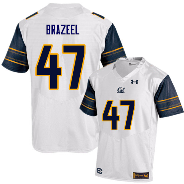Men #47 Connor Brazeel Cal Bears (California Golden Bears College) Football Jerseys Sale-White