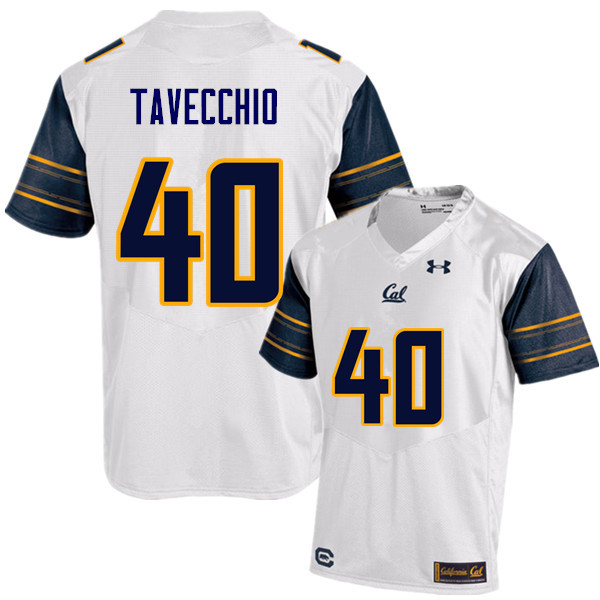 Men #40 Giorgio Tavecchio Cal Bears (California Golden Bears College) Football Jerseys Sale-White