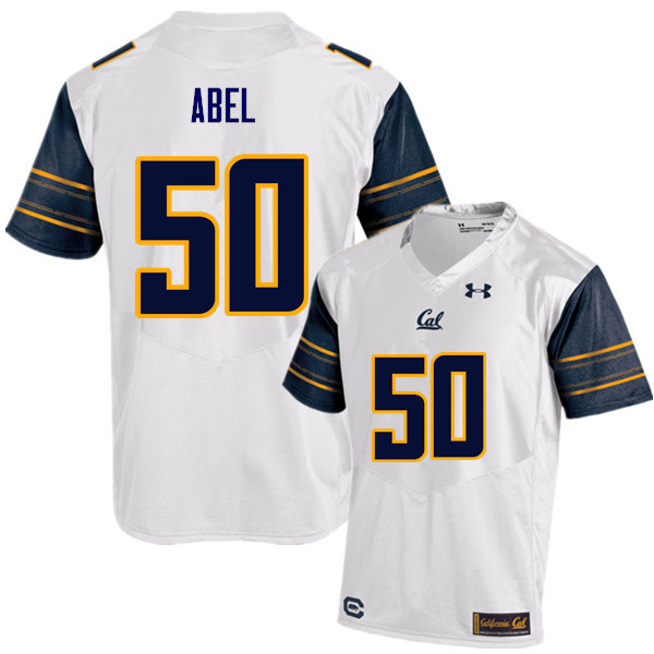 Men #50 Hunter Abel Cal Bears (California Golden Bears College) Football Jerseys Sale-White