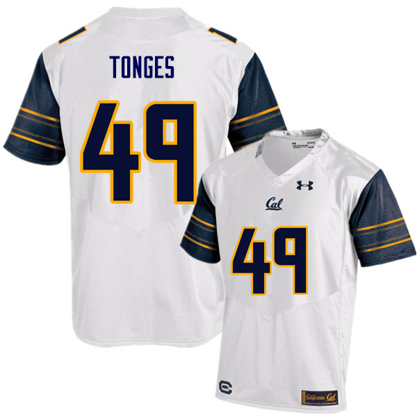 Men #49 Jake Tonges Cal Bears (California Golden Bears College) Football Jerseys Sale-White