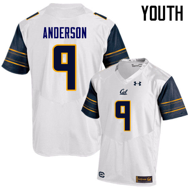 Youth #9 Matt Anderson Cal Bears (California Golden Bears College) Football Jerseys Sale-White