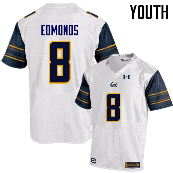 Youth #8 Nygel Edmonds Cal Bears (California Golden Bears College) Football Jerseys Sale-White