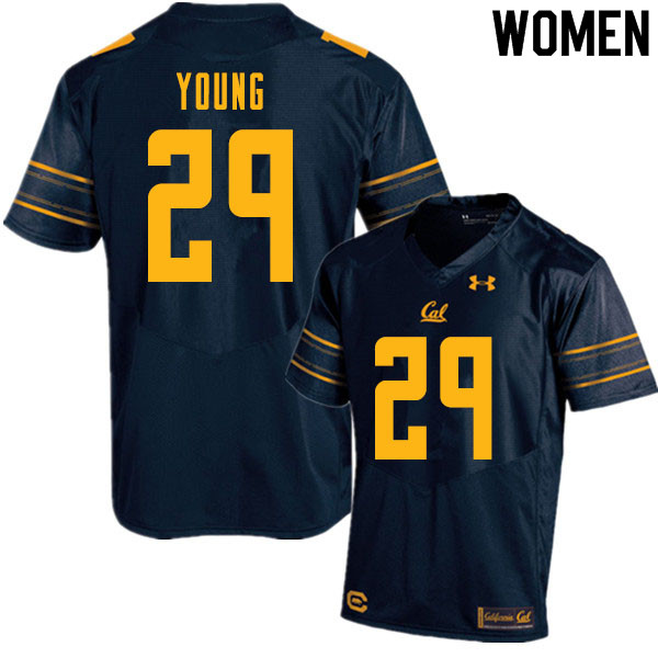 Women #29 Isaiah Young Cal Bears College Football Jerseys Sale-Navy