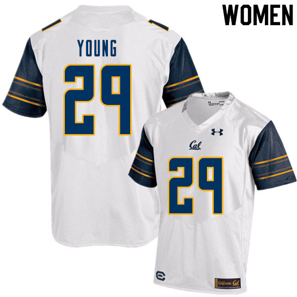 Women #29 Isaiah Young Cal Bears College Football Jerseys Sale-White