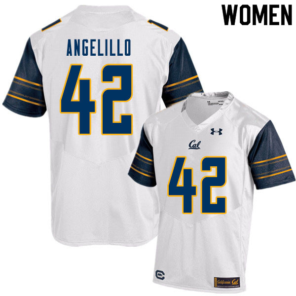 Women #42 Zach Angelillo Cal Bears College Football Jerseys Sale-White