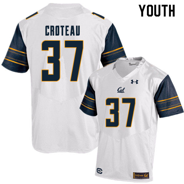 Youth #37 Braxten Croteau Cal Bears College Football Jerseys Sale-White